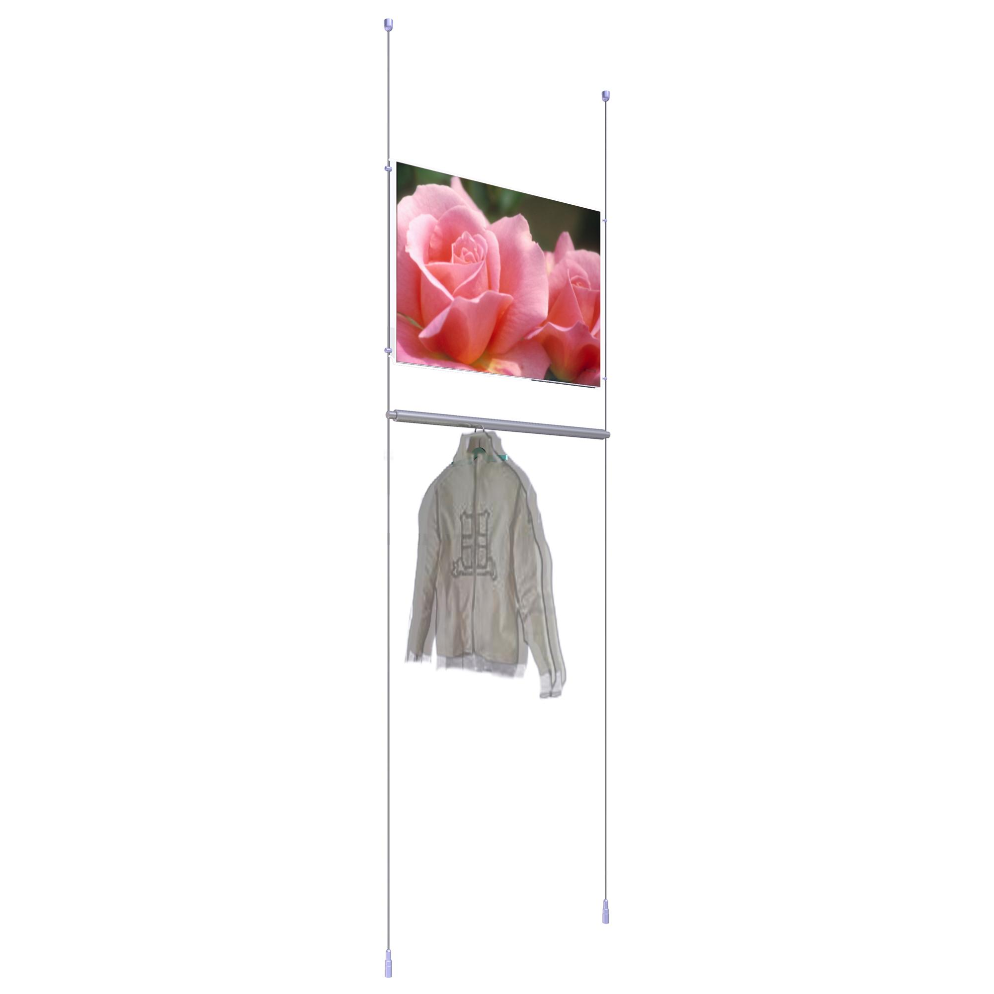 Single Hanging Rail with Picture Holder