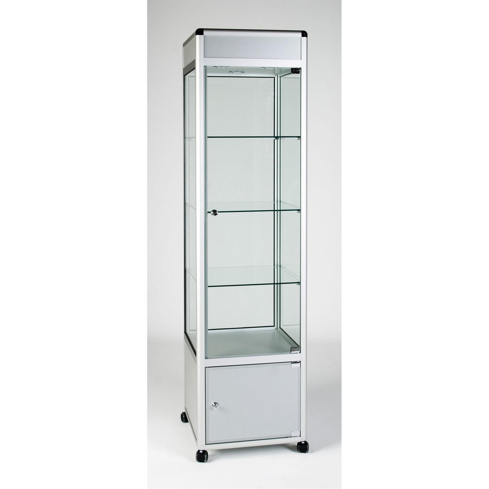 UB.012H Tower Showcase With Sign/Header Panel & Storage