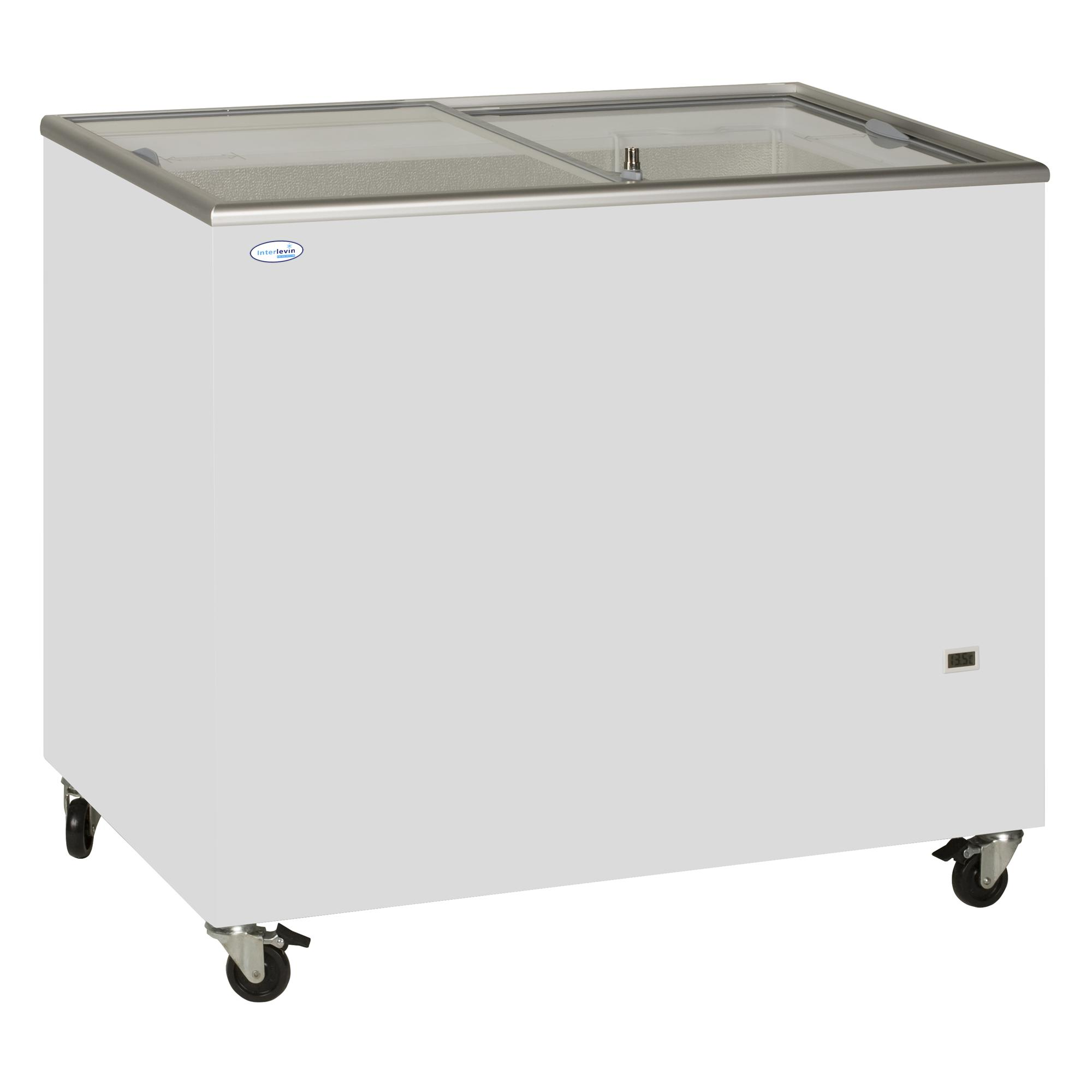 Sliding Flat Glass Lid Chest Freezer