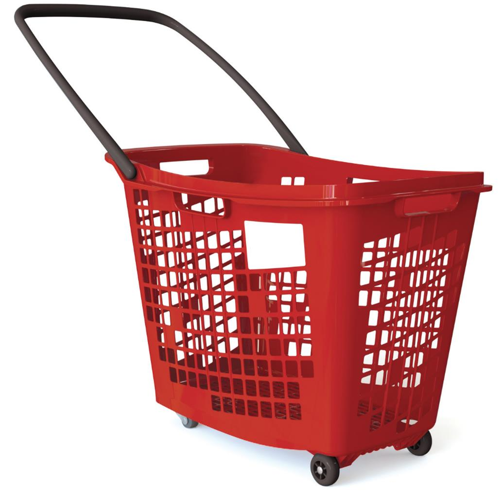 Trolley Shopping Basket Red 55 Litre 7-Pack