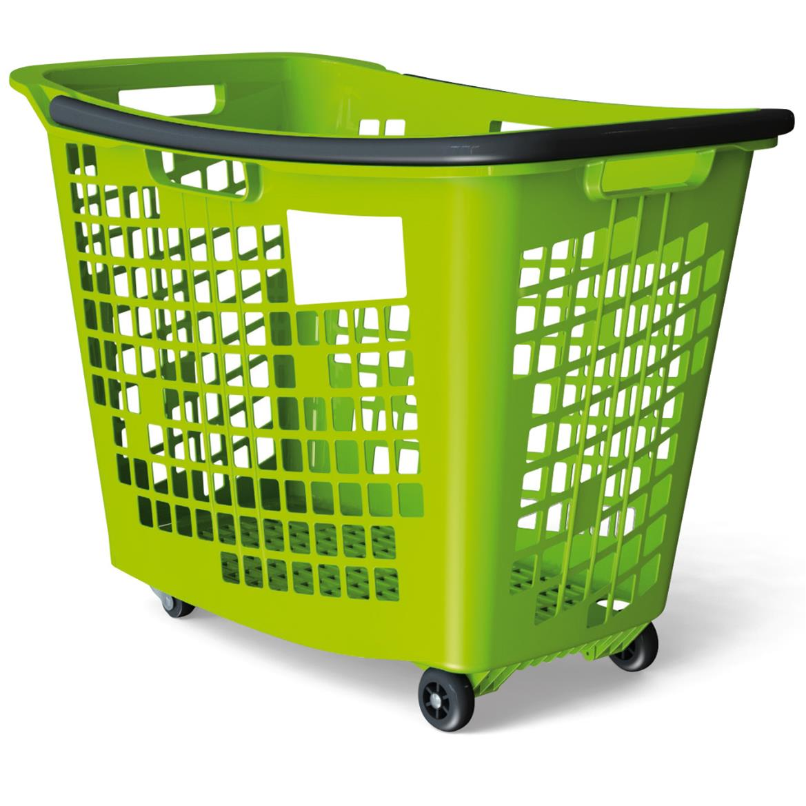 Trolley Shopping Baskets 55 Litre Green 7-Pack