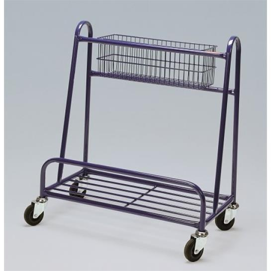 Small Board Trolley With Top Basket