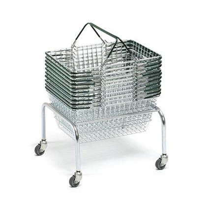 Shopping Basket Stacker - With Wheels