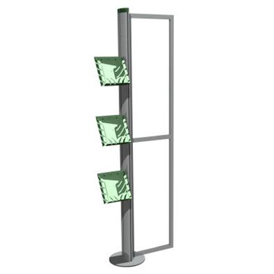 Metro Portable 1 Section Display Stand With Brochure Holders