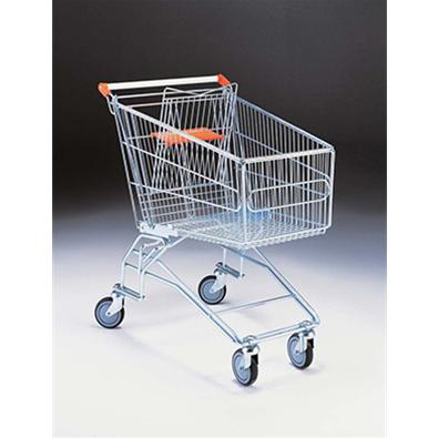 Supermarket Trolley 140 Litre With Anti-Theft Castors