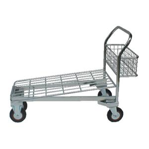 Zinc Plated All Wire Cash & Carry Nesting Trolley With Basket