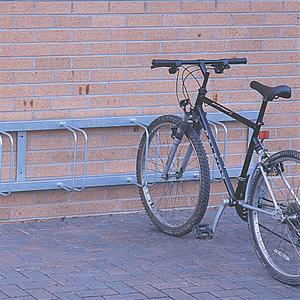 Straight Wall Mounted Cycle Rack