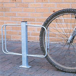 Double Sided Ground Fixed Cycle Rack