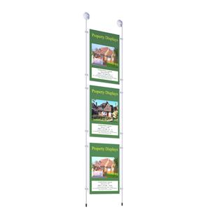 Suction Poster Kit with 3 x A4 Pockets