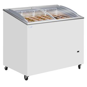 Sliding Curved and Angled Lid Chest Freezer