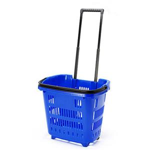 Trolley Shopping Basket Blue 34 Litre 10-Pack