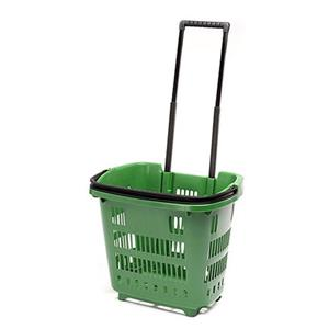 Trolley Shopping Basket Green 34 Litre 10-Pack