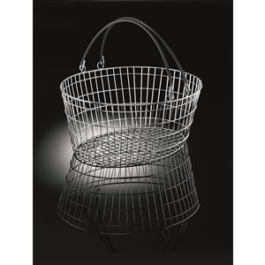 Luxury Oval Wire Shopping Basket 25 Litre 10-Pack