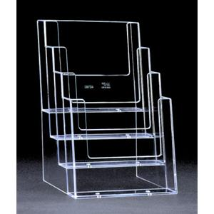 4 Compartment A5 Brochure Holder - 4 Pack