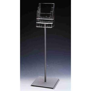 3 X A4 FREESTANDING MULTI-TIERED BROCHURE HOLDER
