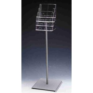 4 x A4 Freestanding Multi-Tiered Brochure Holder