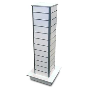 Slim Tower 4 - Sided Freestanding Slatwall Gondola